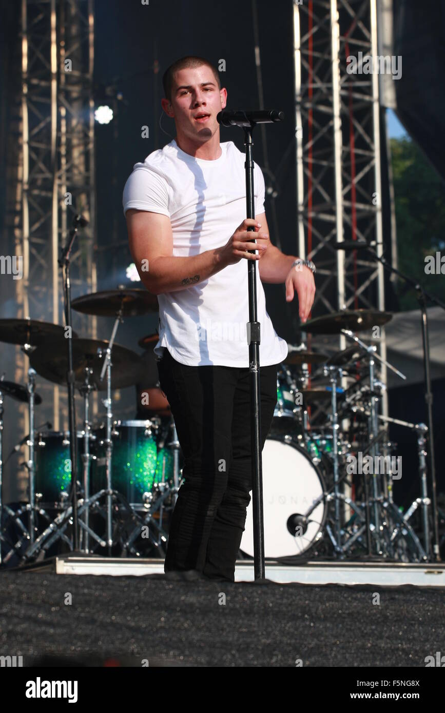 Made in America Festival Concert - Day 1 - Performances  Featuring: Nick Jonas Where: Philadelphia, Pennsylvania, - Stock Image