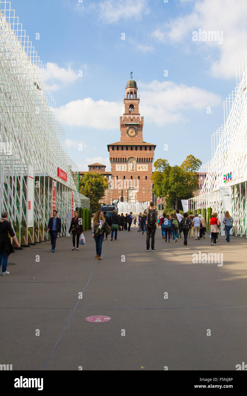 MILAN, ITALY - MAY 13: sign Expo Gate 2015, on October 8, 2015 in Milan, Italy Stock Photo