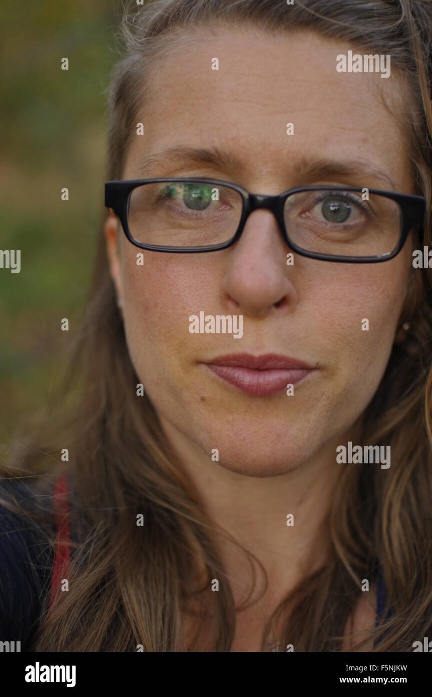 Middleaged White Woman With Undercut Hairstyle   Stock Image