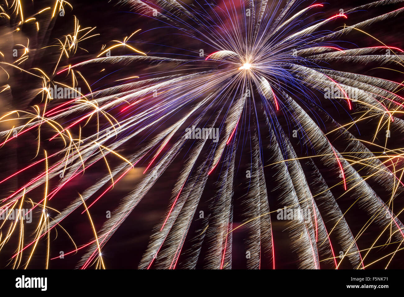 Fireworks, Albuquerque International Balloon Fiesta, Albuquerque, New Mexico USA - Stock Image