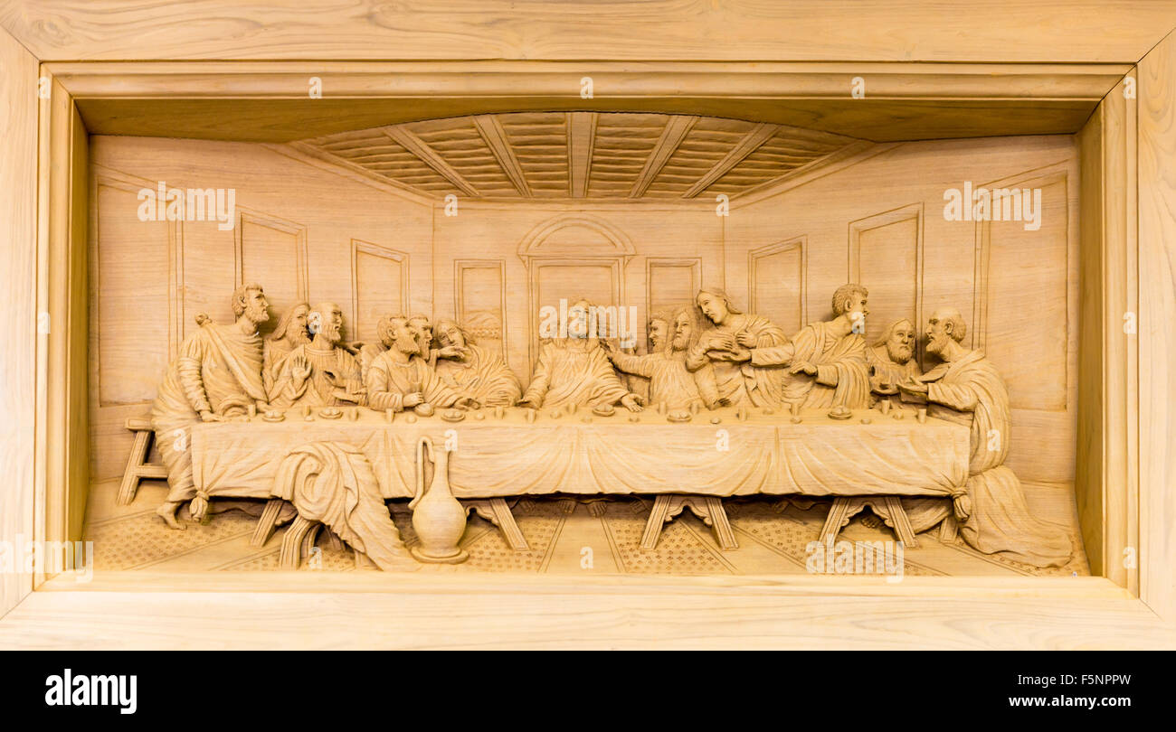Carving Of The Last Supper Stock Photos & Carving Of The Last Supper ...
