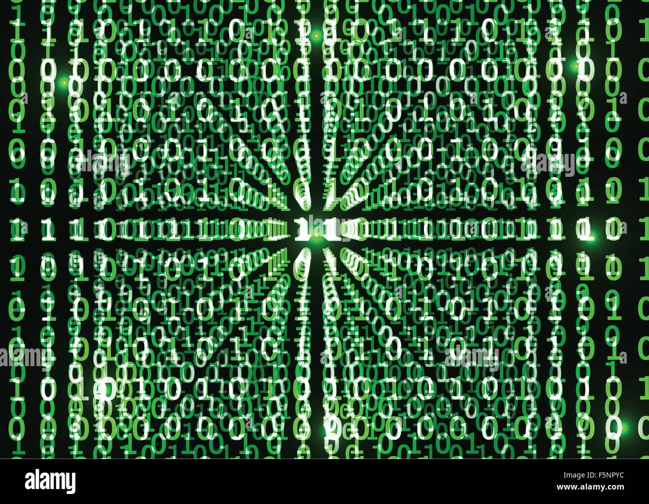 Binary code in abstract background, VECTOR, EPS10 - Stock Vector