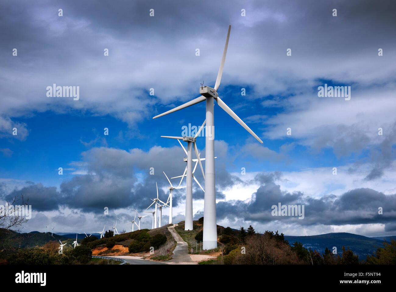 Wind turbines, Spain. - Stock Image