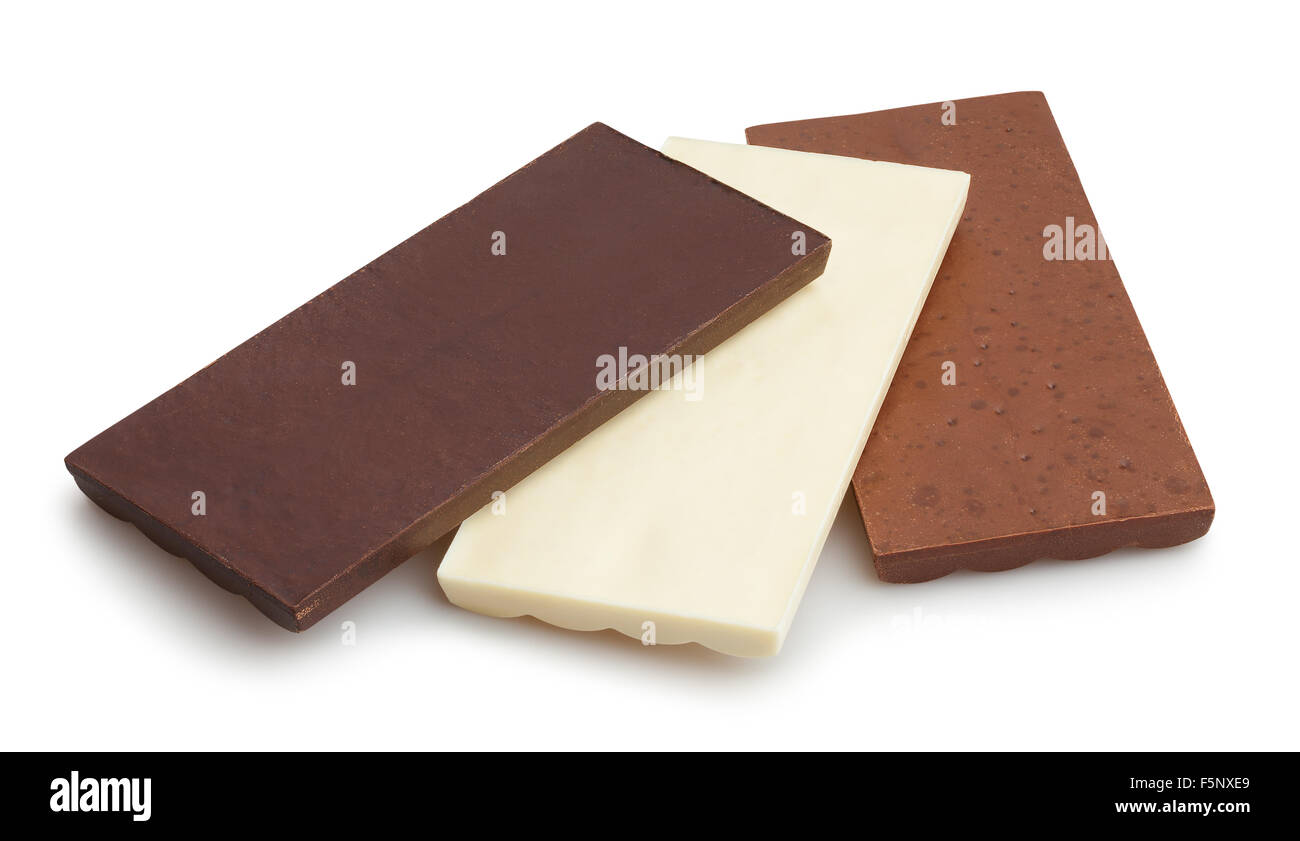 chocolate bars isolated - Stock Image