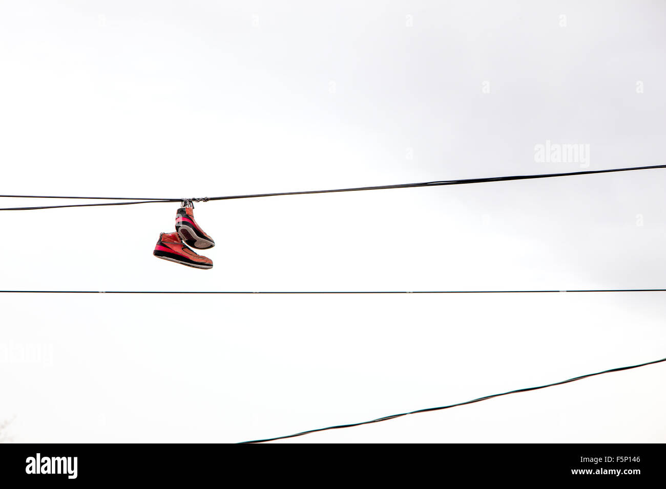 Sneakers On Power Lines Stock Photos & Sneakers On Power Lines Stock ...