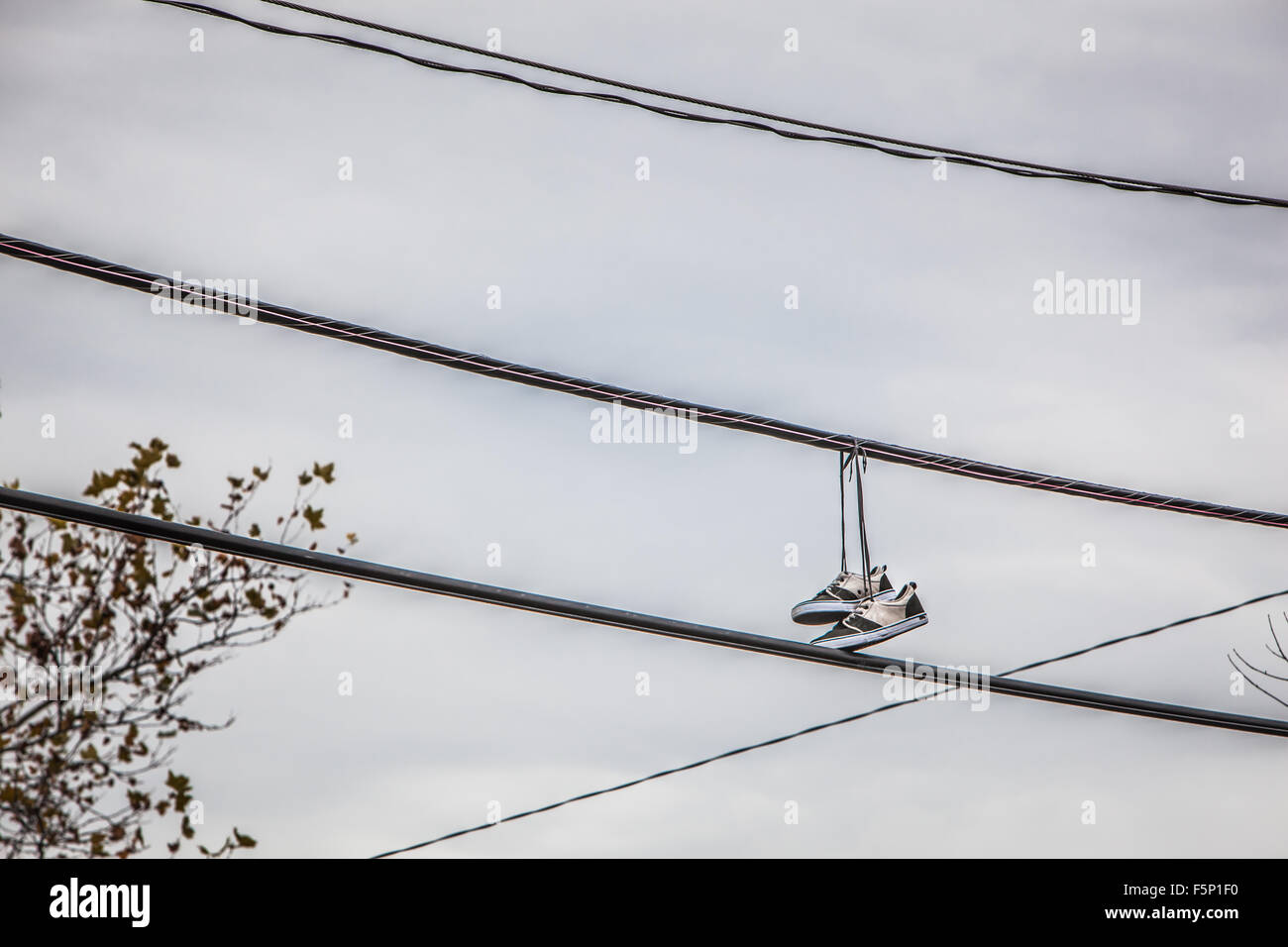 Sneakers on power lines Stock Photo: 89609268 - Alamy