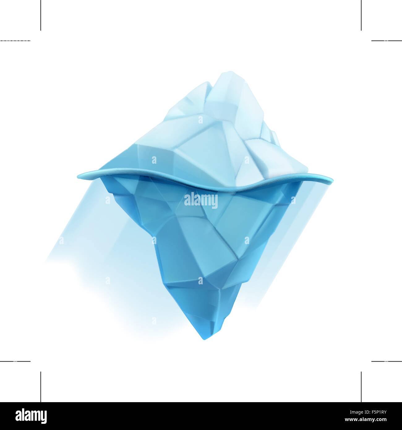 Iceberg, low poly style vector icon - Stock Vector