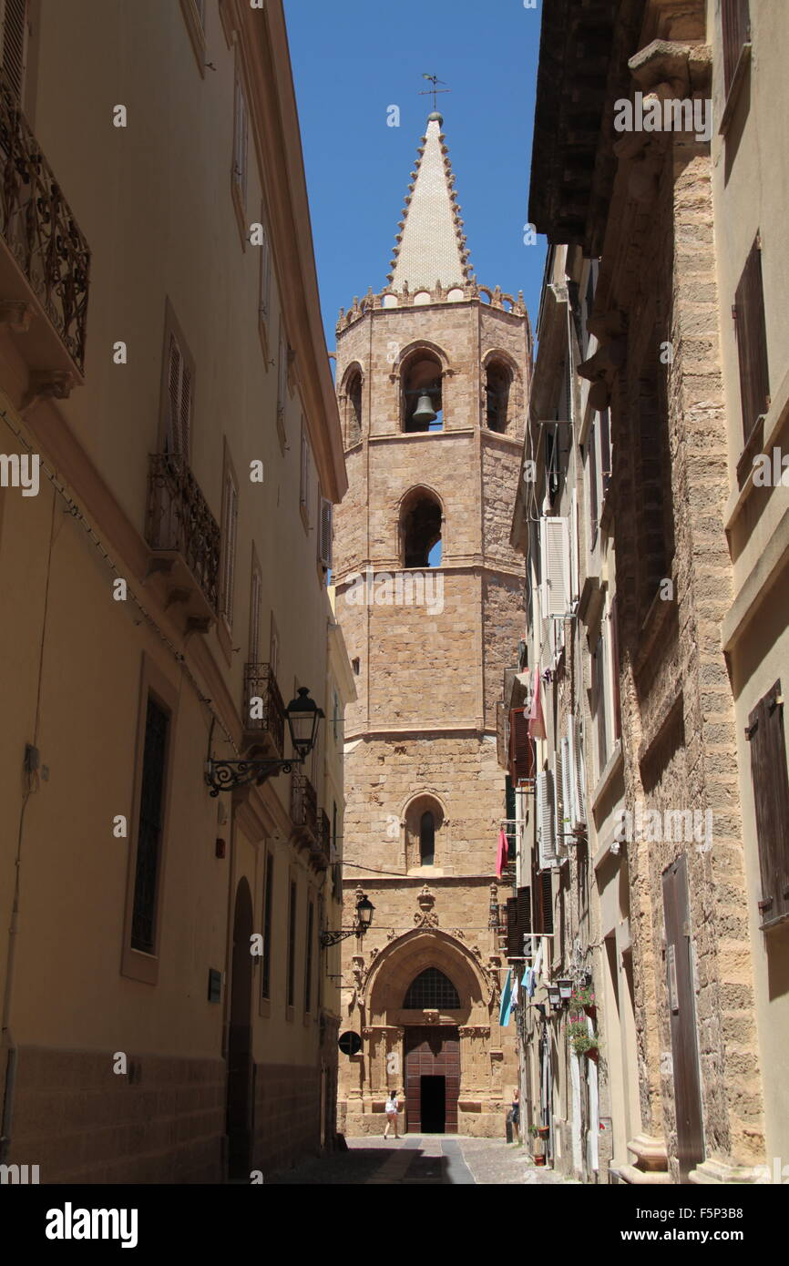 Church in Olbia - Stock Image