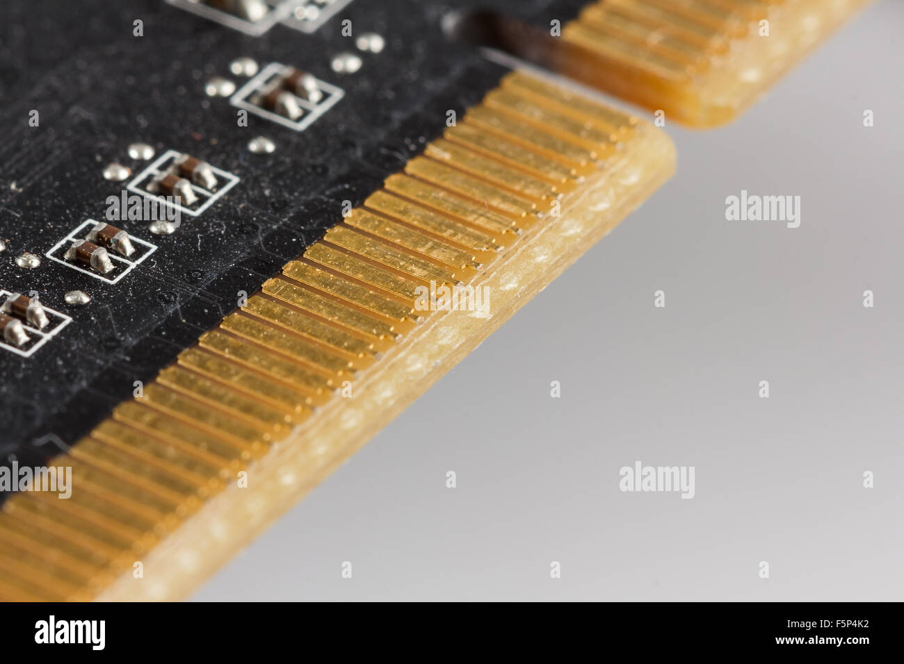 Close-up of a video card for a computer - Stock Image