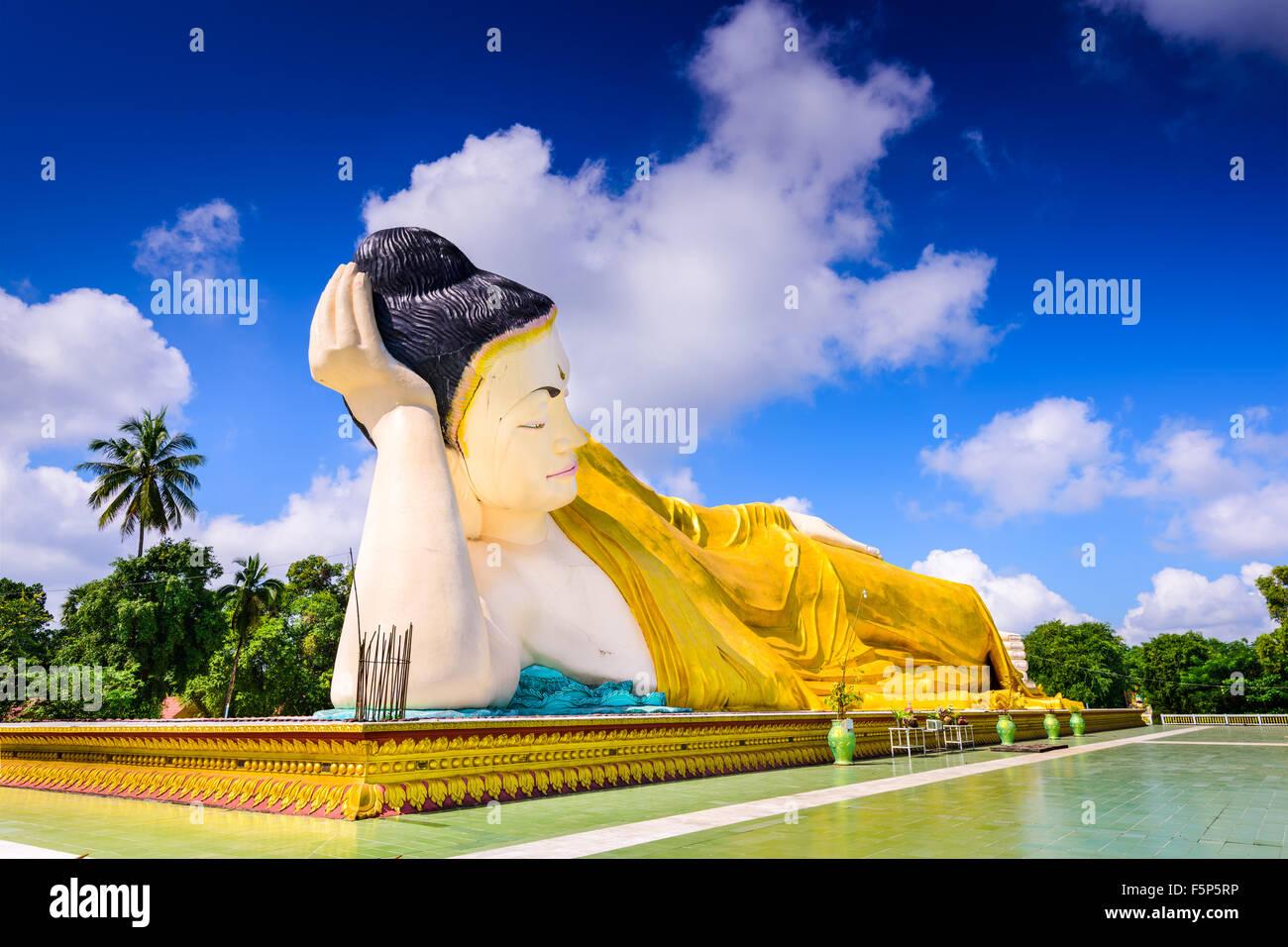 Bago, Myanmar at Mya Tha Lyaung reclining buddha. - Stock Image