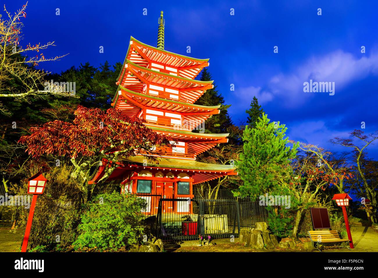 Chureito Pagoda of Arakurasengen Shrine in Fujiyoshida, Japan. - Stock Image