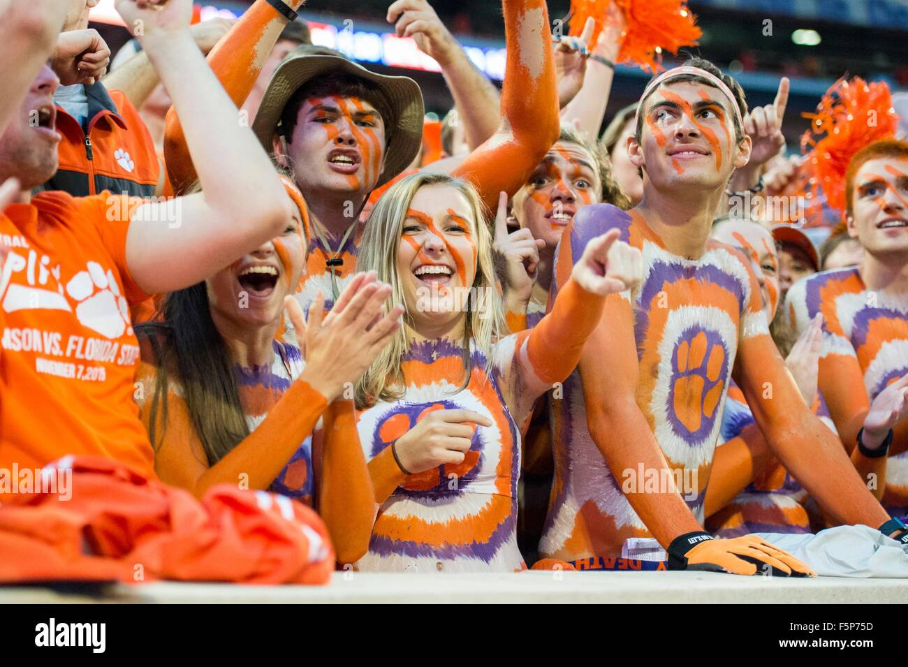 Clemson Student Fans During The Ncaa College Football Game Between