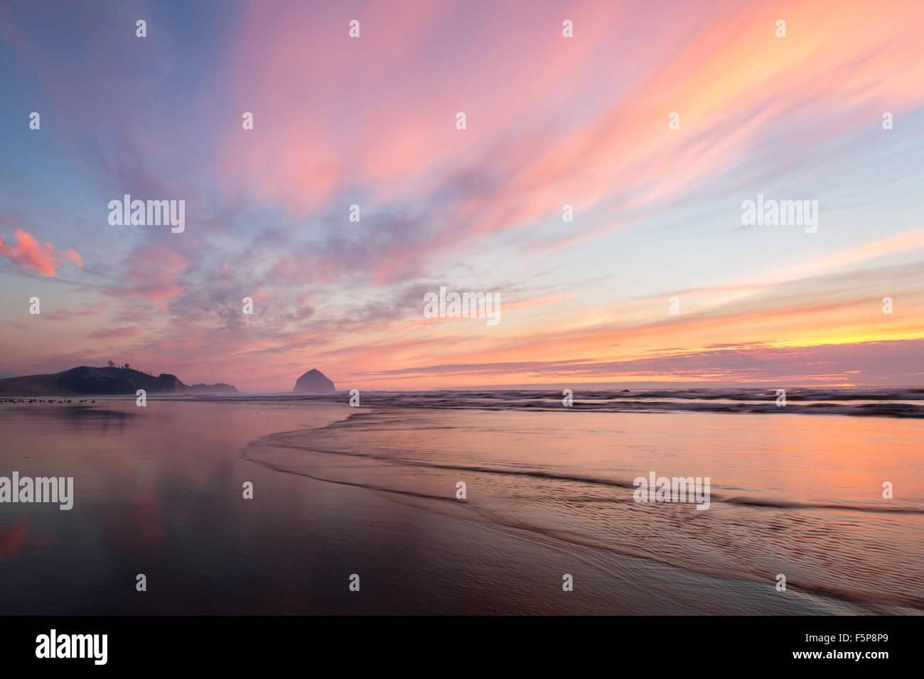 Tierra del Mar beach, Oregon - Stock Image