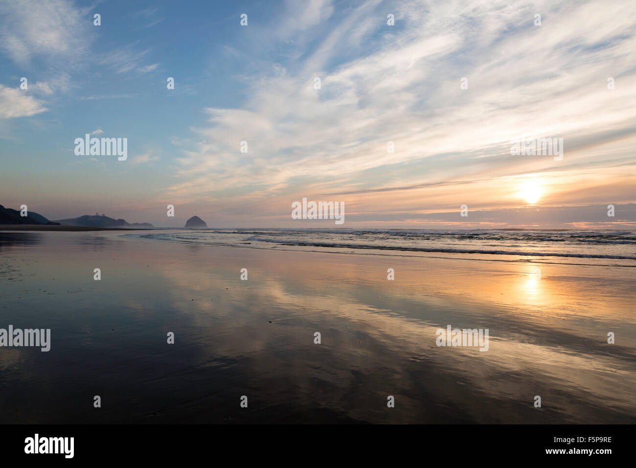 Tierra del Mar beach, Oregon Stock Photo