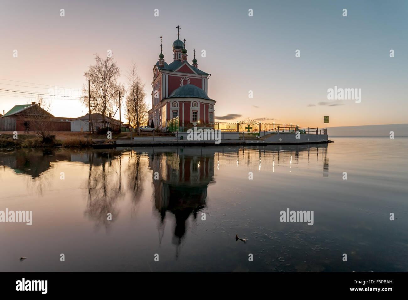 Pereslavl-Zalessky, Russia - November 07, 2015: Sorokosvyatsky church, of Forty martyrs Sevastiysky  1775. View - Stock Image