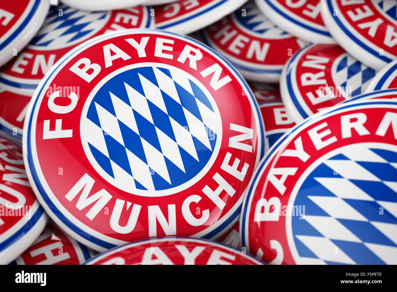 Bayern München buttons - Stock Image