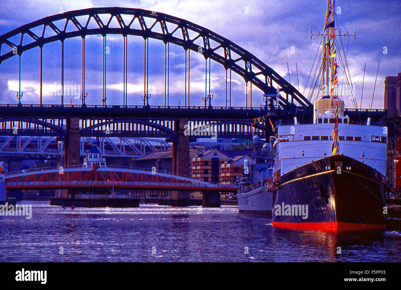 Royal Yacht Britannia River Tyne before laying up at Edinburgh Stock Photo