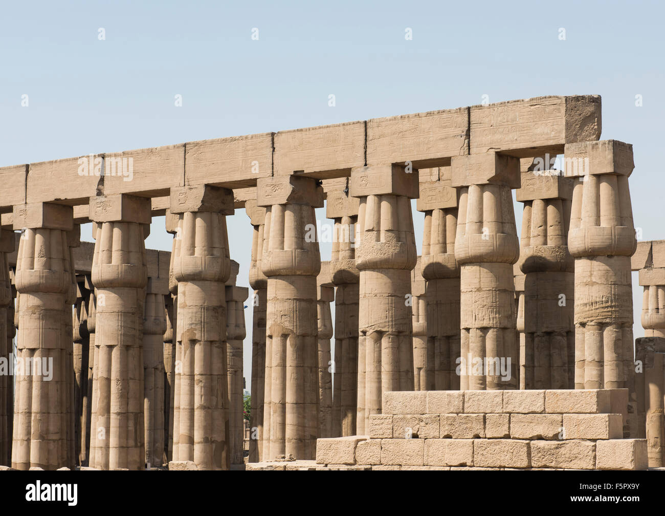 Columns in an ancient egyptian temple at Luxor Stock Photo 89628727