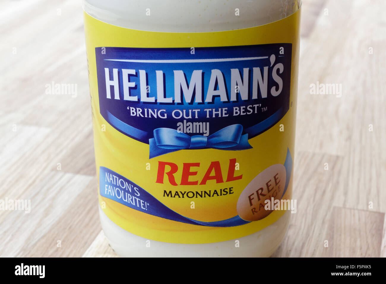 Jar of Hellmanns real mayonnaise - Stock Image
