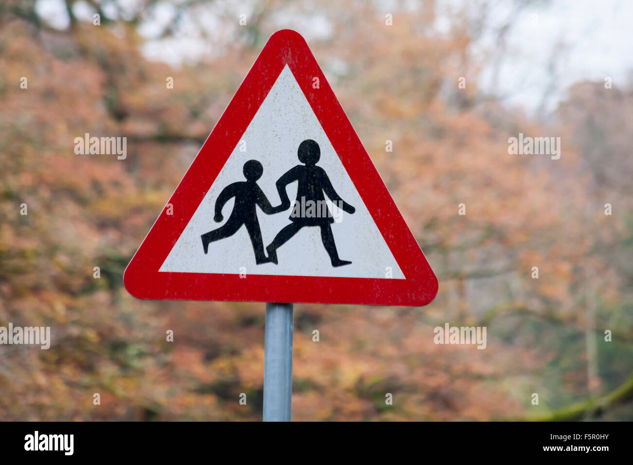 Children Crossing Road Sign High Resolution Stock ...