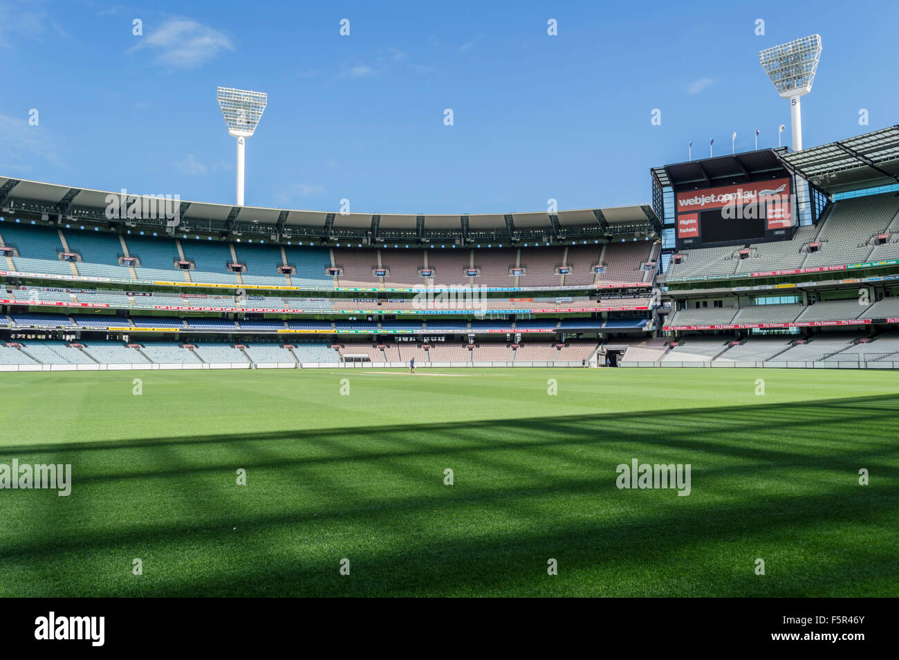 The Melbourne Cricket Ground (MCG) is an Australian sports stadium located in Yarra Park, Melbourne, Victoria, and - Stock Image