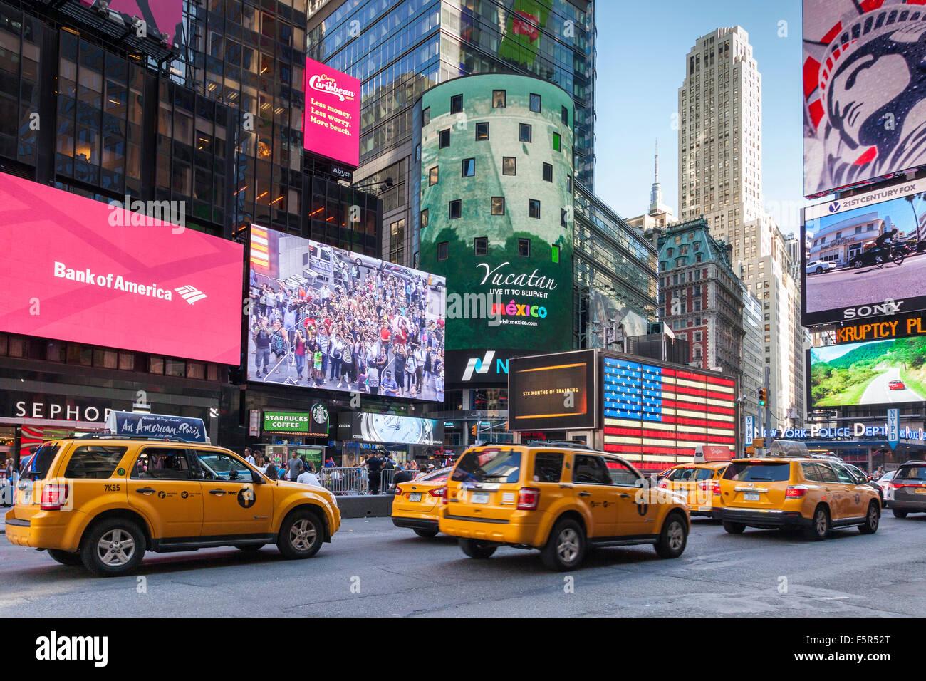 Times Square, midtown Manhattan, New York, USA - Stock Image