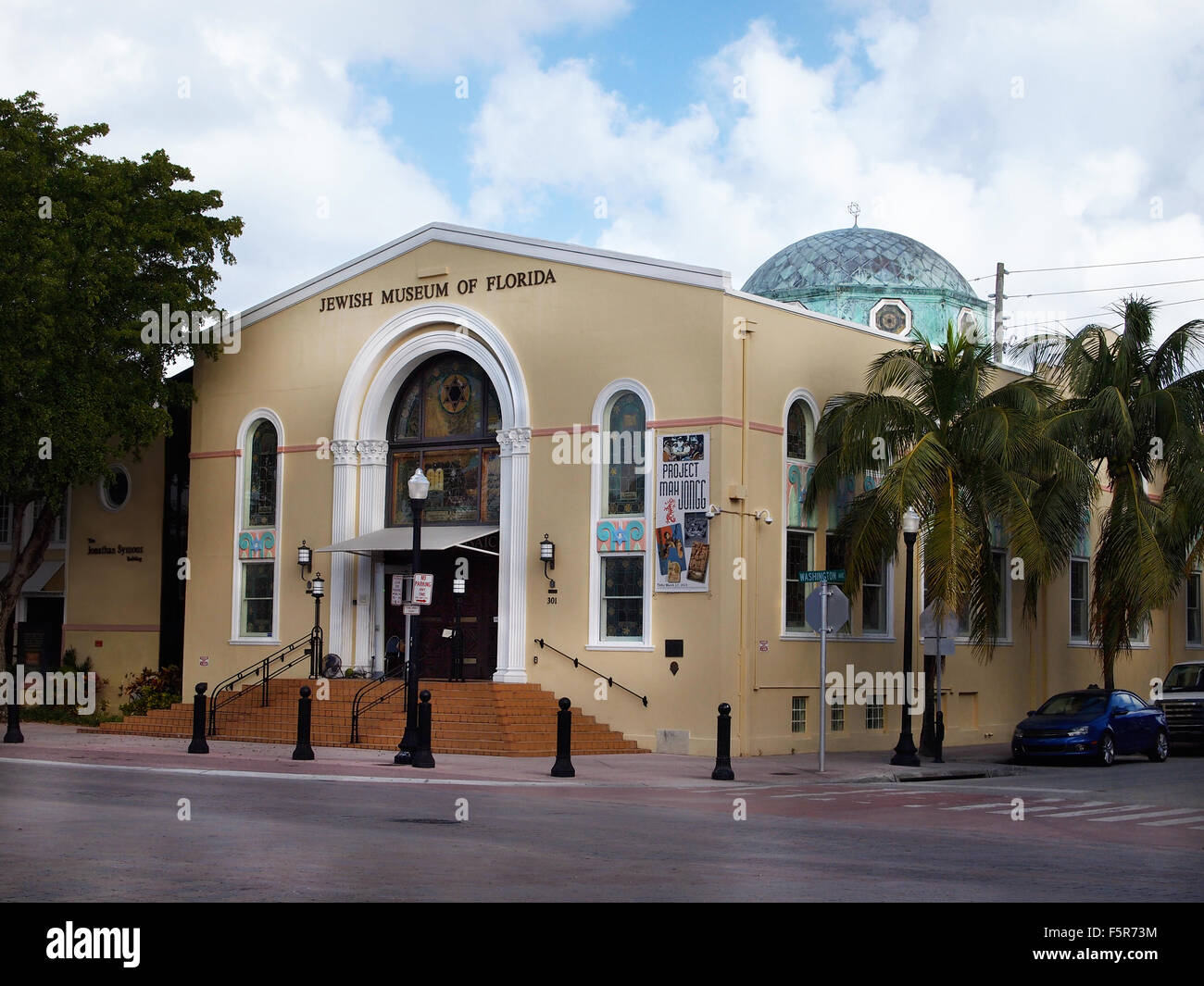 MIAMI, FLORIDA - NOVEMBER 11, 2012: The Jewish Museum of Florida, on Washington Ave. in the South Beach section Stock Photo