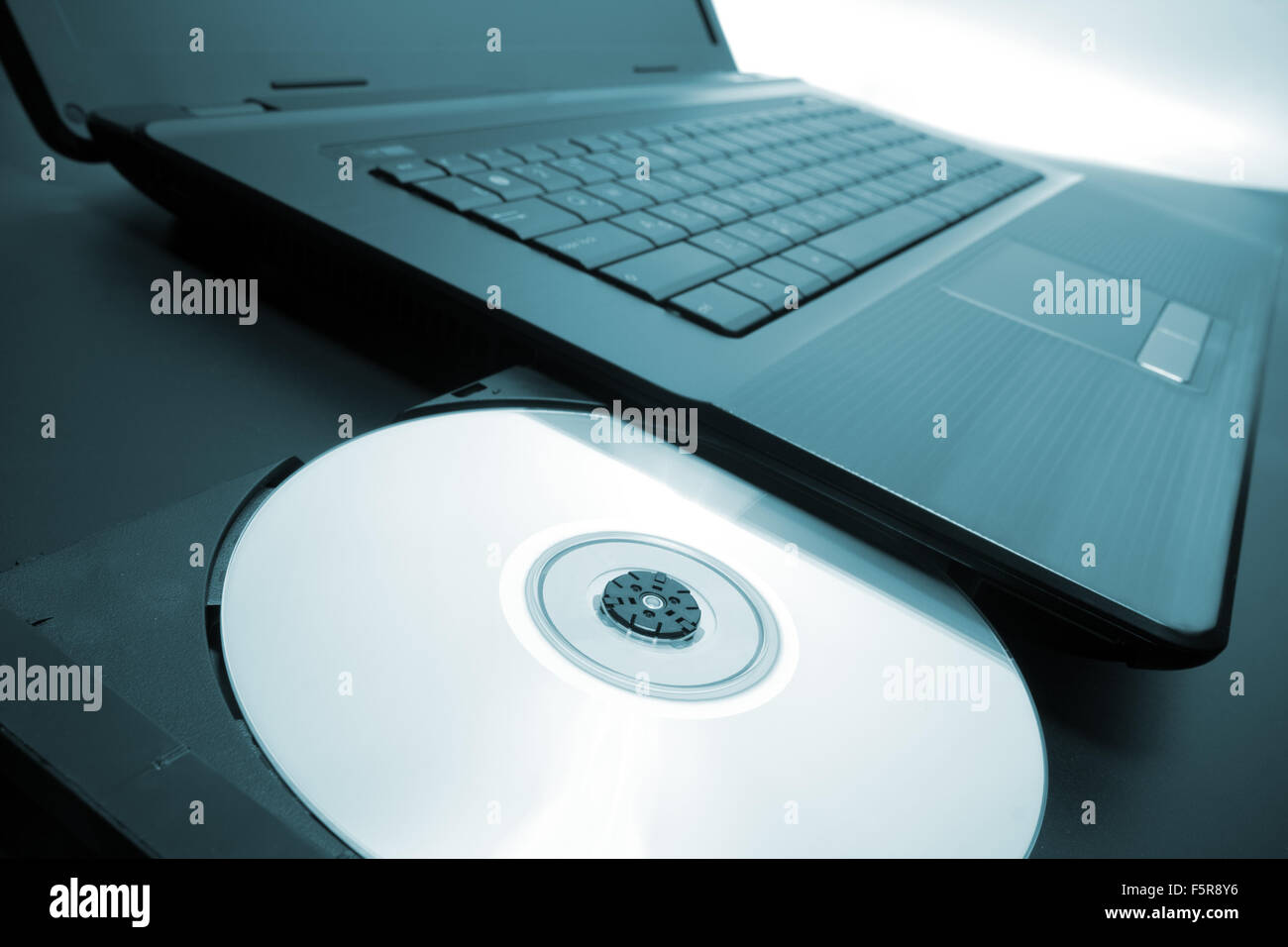 laptop with open cd dvd drive stock photo 89637050 alamy