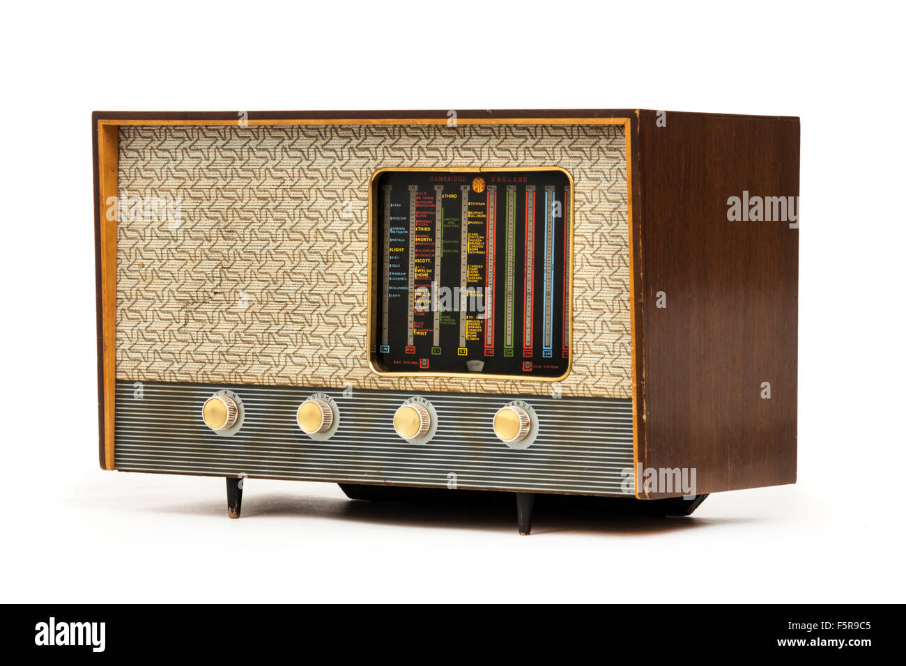 Pye P445U valve radio from the 1950's, made in Cambridge, England - Stock Image