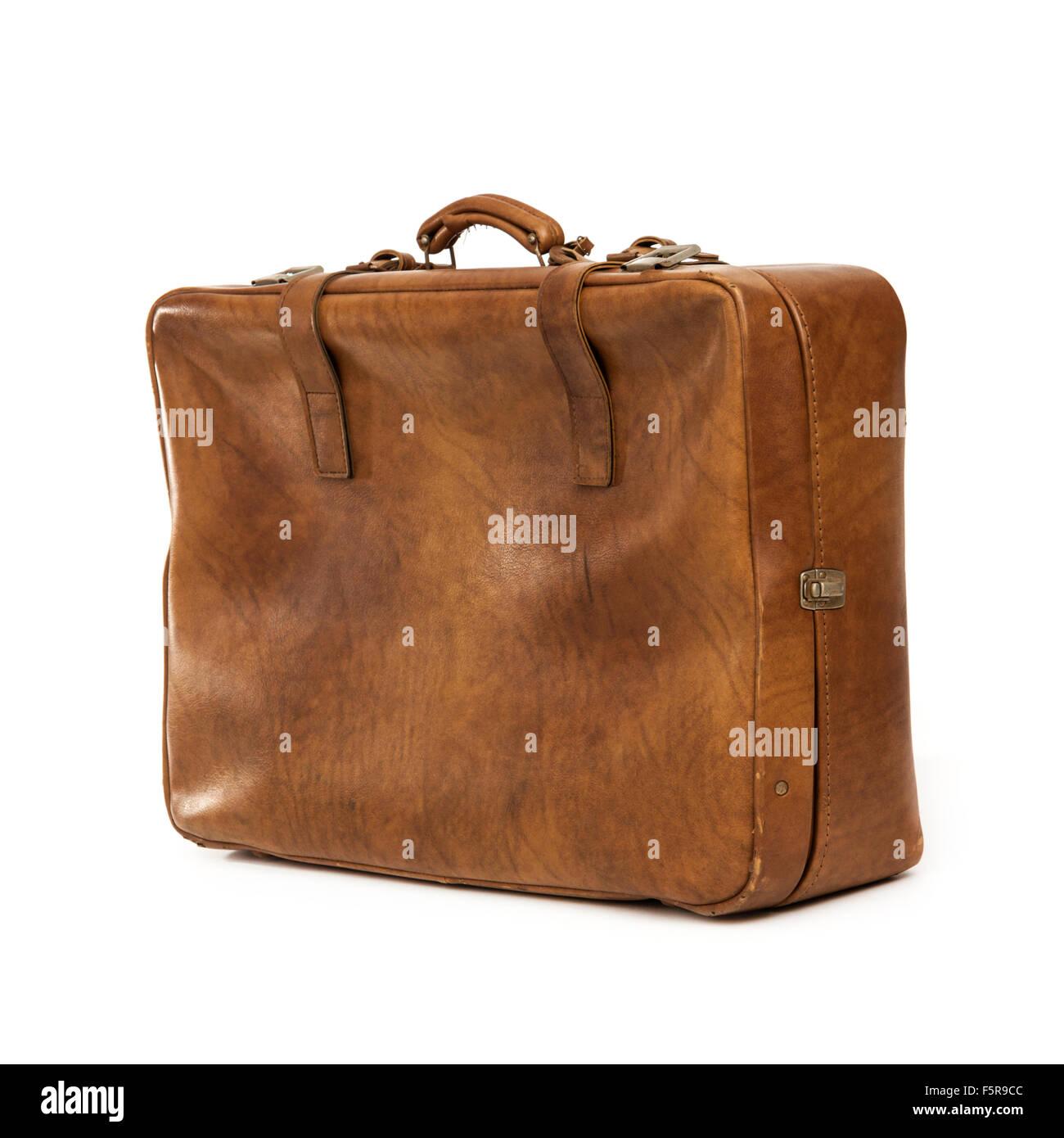 Vintage 'Vulco' suitcase made by Näsijärven Pahvitehdas Oy of Finland (Näsijärvi Cardboard - Stock Image