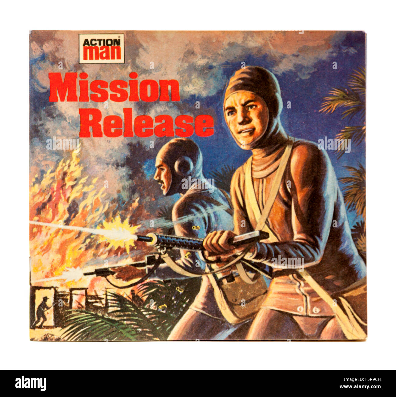 Vintage Action Man 'Mission Release' Mini-Story Book (1978), published by Aidan Ellis Publishing Ltd. - Stock Image