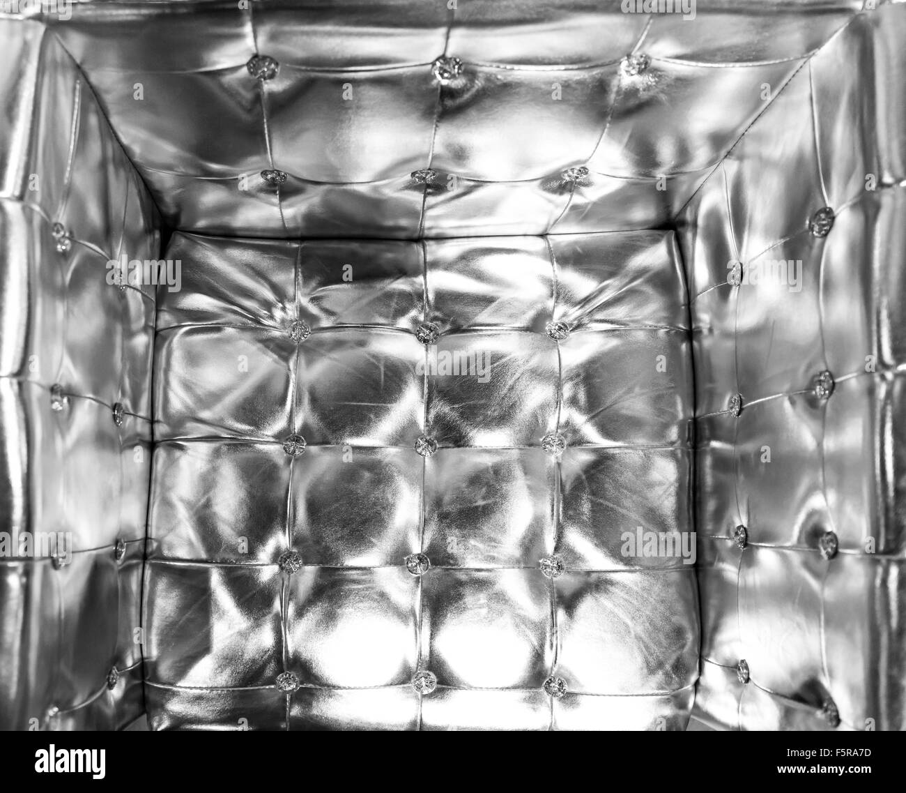 Buttoned silver texture. Luxurious background. - Stock Image