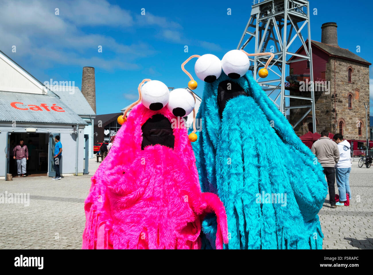Yip Yip aliens from Sesame Street TV programme at Geekfest, Cornwall, UK - Stock Image