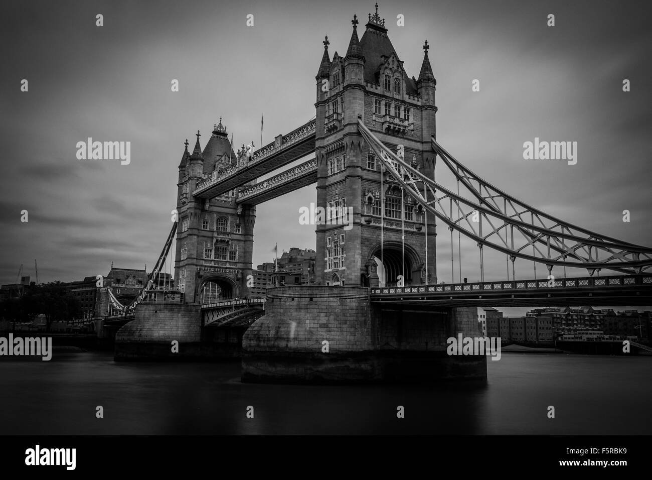 Tower Bridge B&W - Stock Image