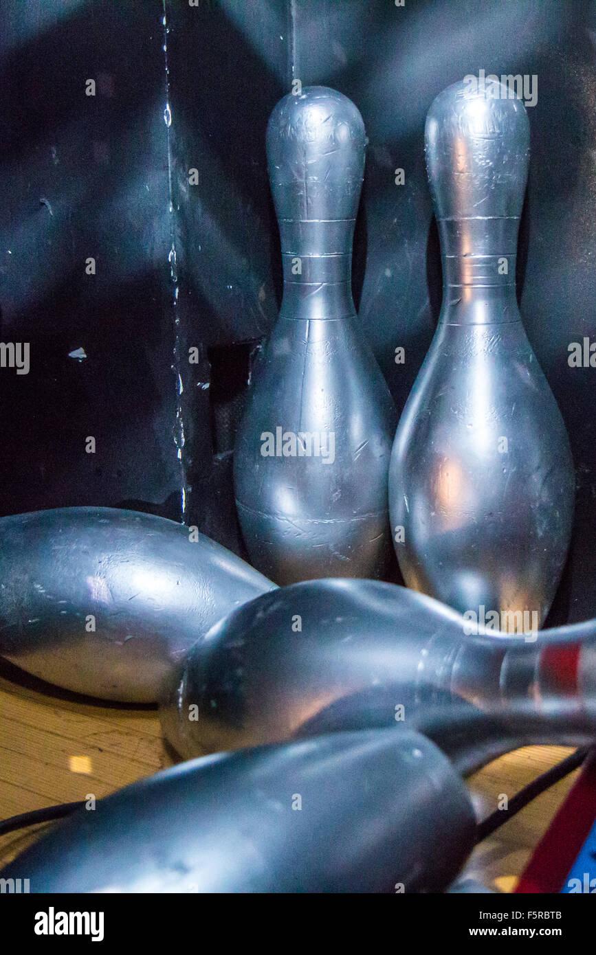 bowling pins - Stock Image