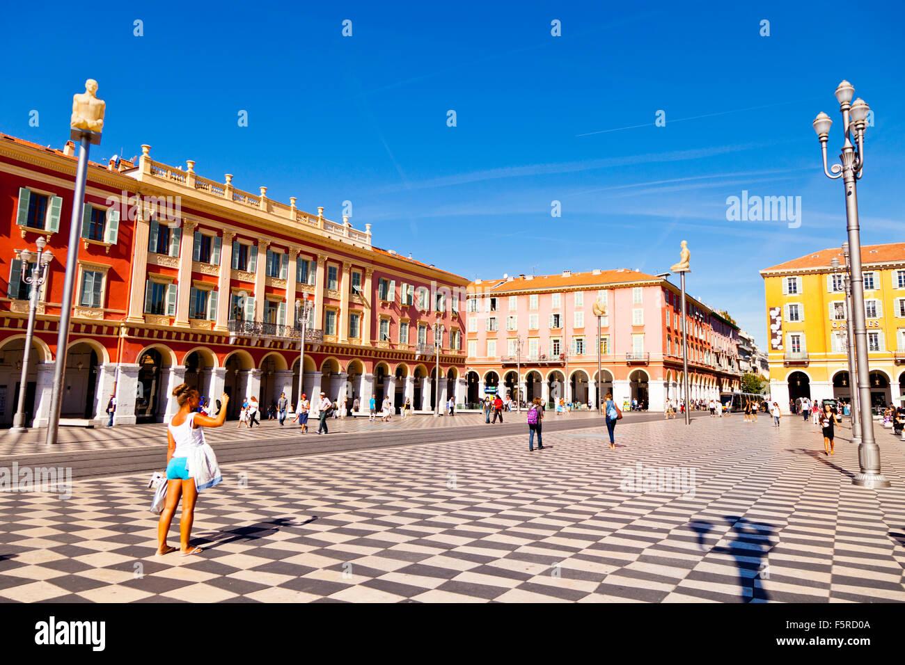 Place Masséna Nice France - Stock Image