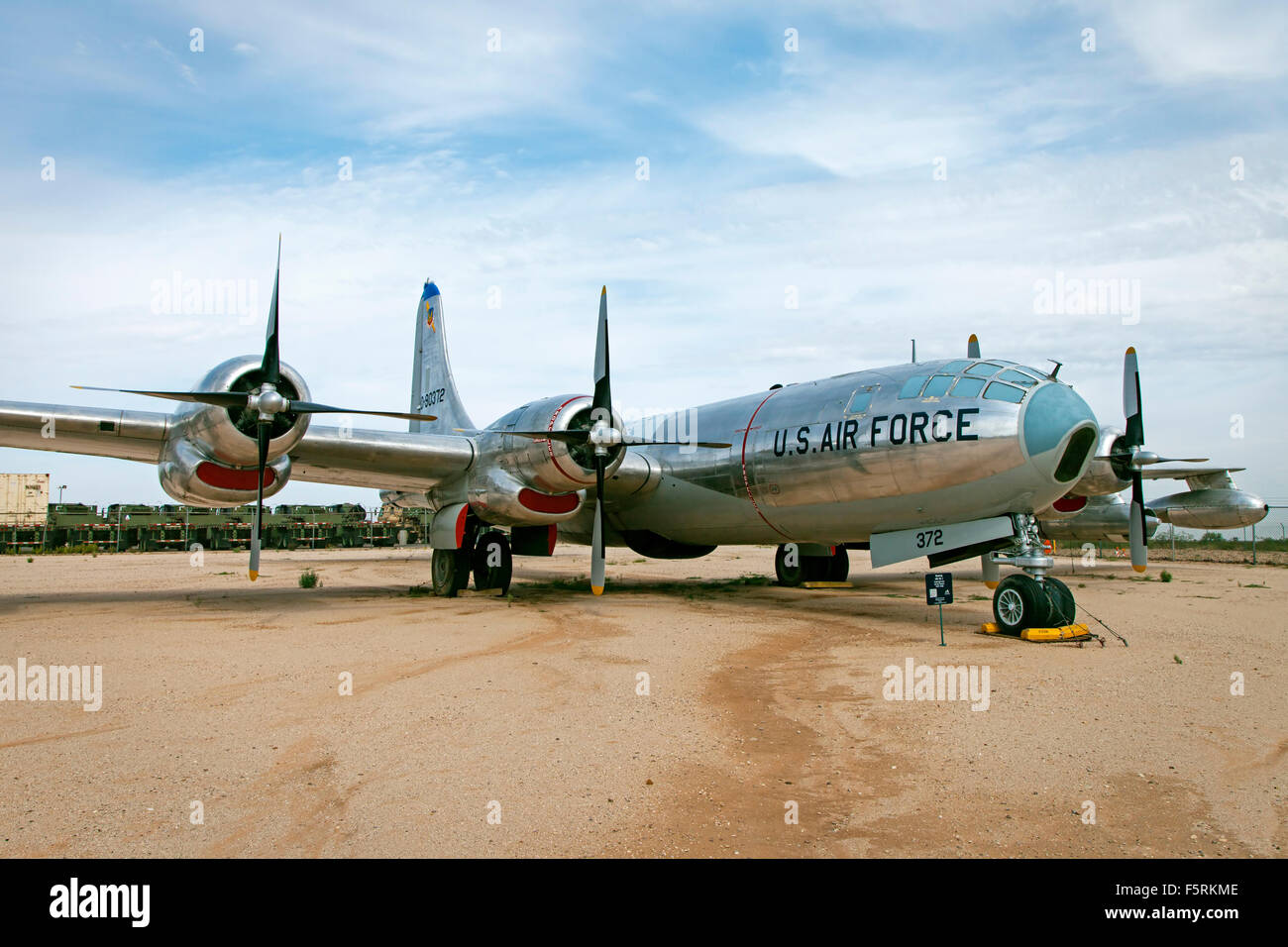 Boeing KB-50J Superfortress on display at Pima Air Museum in Tucson, Arizona. The KB-50 was used as an aerial refueling - Stock Image
