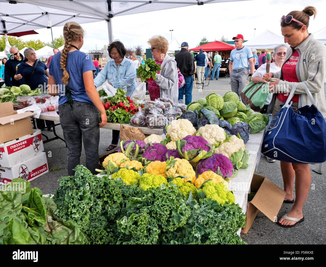 South Anchorage Farmers Market. - Stock Image