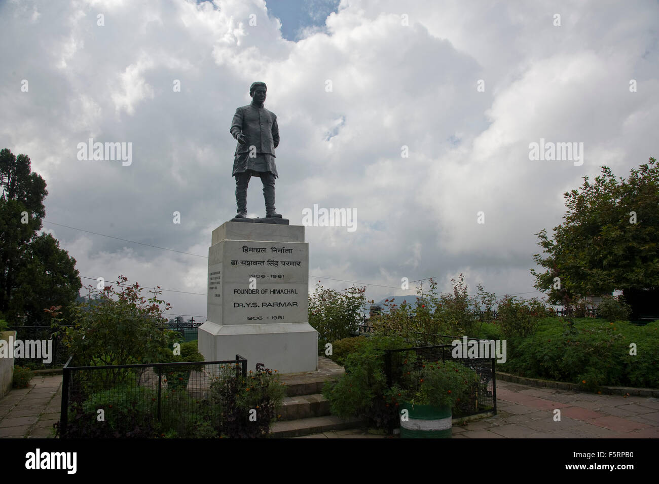 Statue of founder dr y s parmar ridge, shimla, himachal pradesh, india, asia - Stock Image