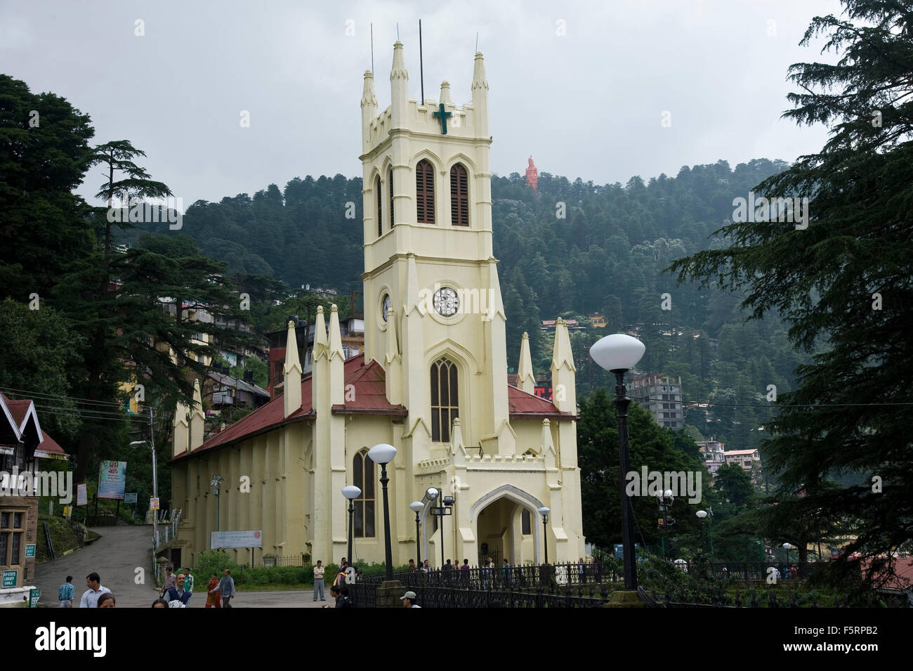 St michaels cathedral, shimla, himachal pradesh, india, asia - Stock Image