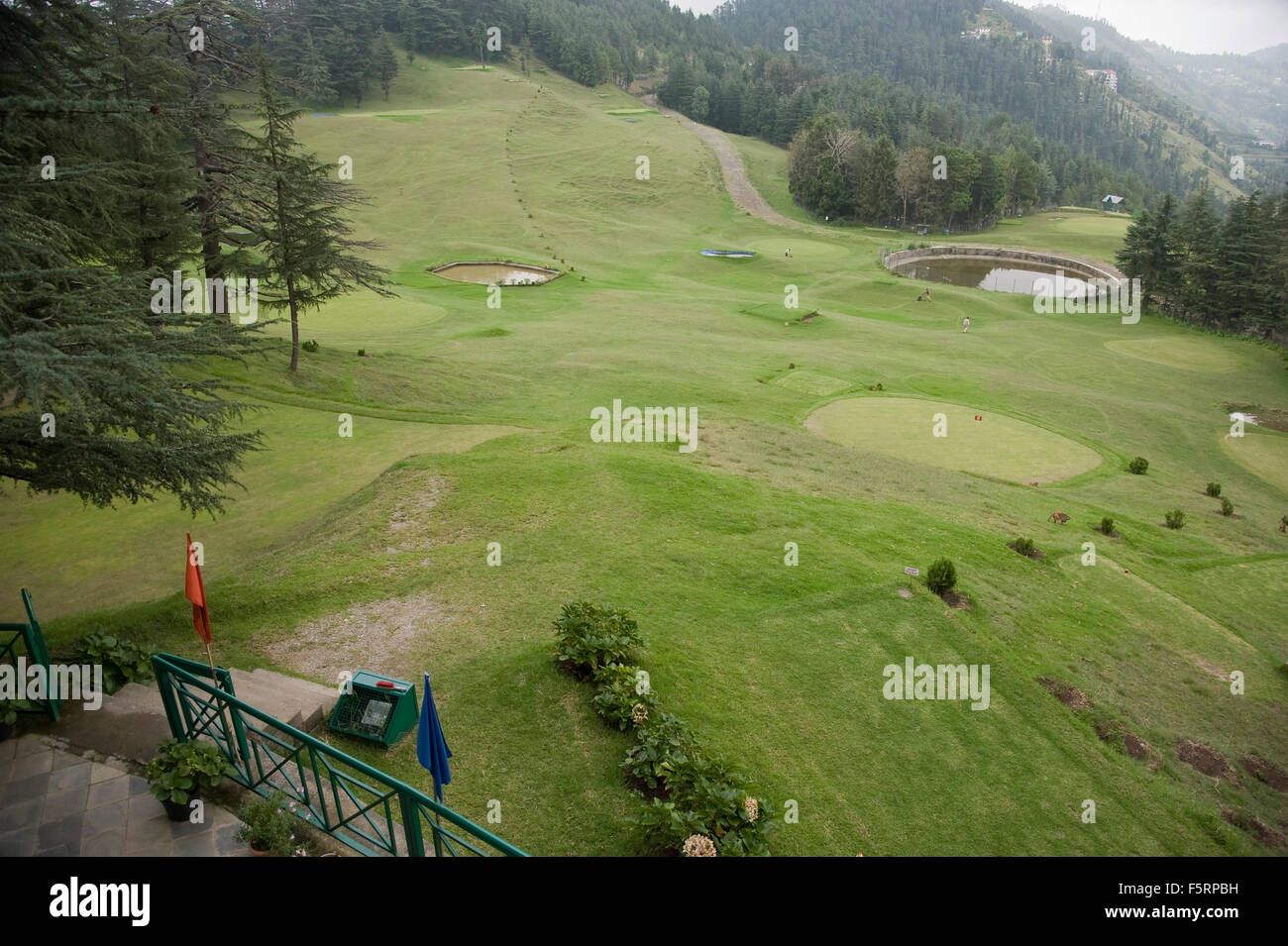 18 holes golf club, shimla, himachal pradesh, india, asia - Stock Image