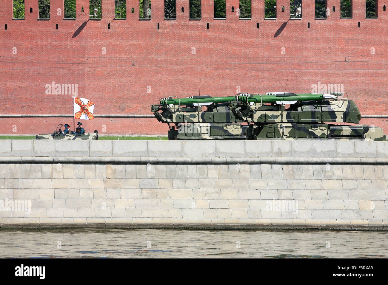 The Buk-M1-2 system during the 2009 Moscow Victory Day Parade in Moscow, Russia - Stock Image
