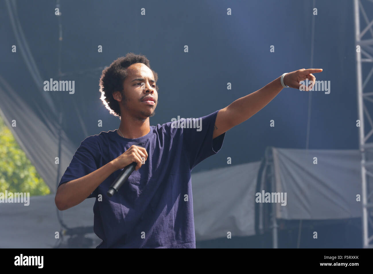 2015 Budweiser Made In America - Performances - Day 1  Featuring: Earl Sweatshirt Where: Philadelphia, Pennsylvania, - Stock Image