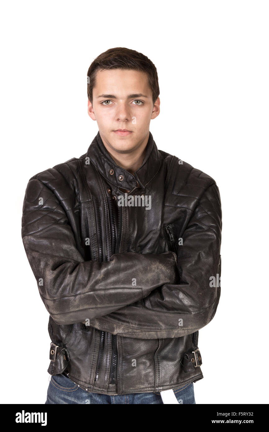 Leather for teen boy