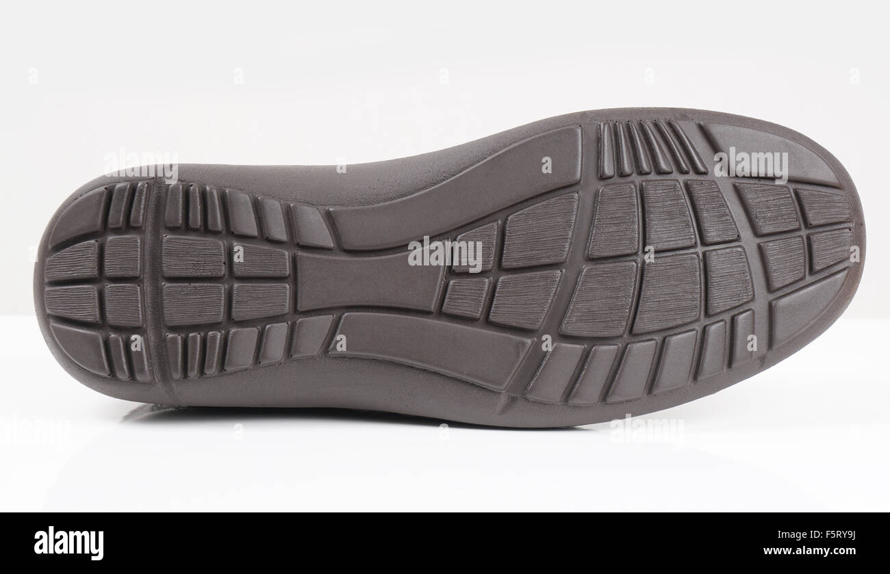 rubber sole of a shoe - Stock Image