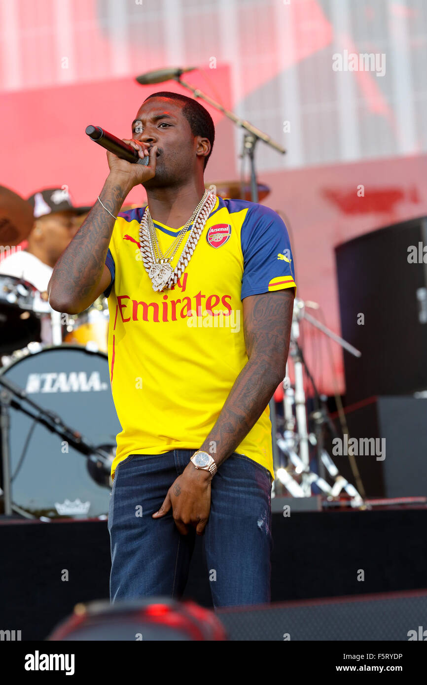 2015 Budweiser Made In America - Performances - Day 1  Featuring: Meek Mill Where: Philadelphia, Pennsylvania, United - Stock Image