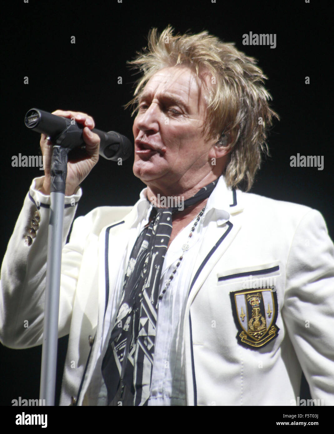The Faces reunion concert held at Hurtwood Park Polo Club  Featuring: Rod Stewart Where: Surrey, United Kingdom - Stock Image