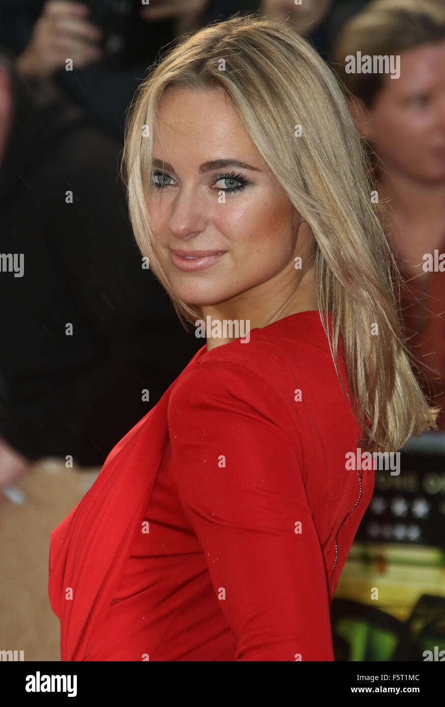 Sep 21, 2015 - London, England, UK - 'Sicario' UK Premiere at Empire, Leicester Square - Kimberley Garner - Stock Image
