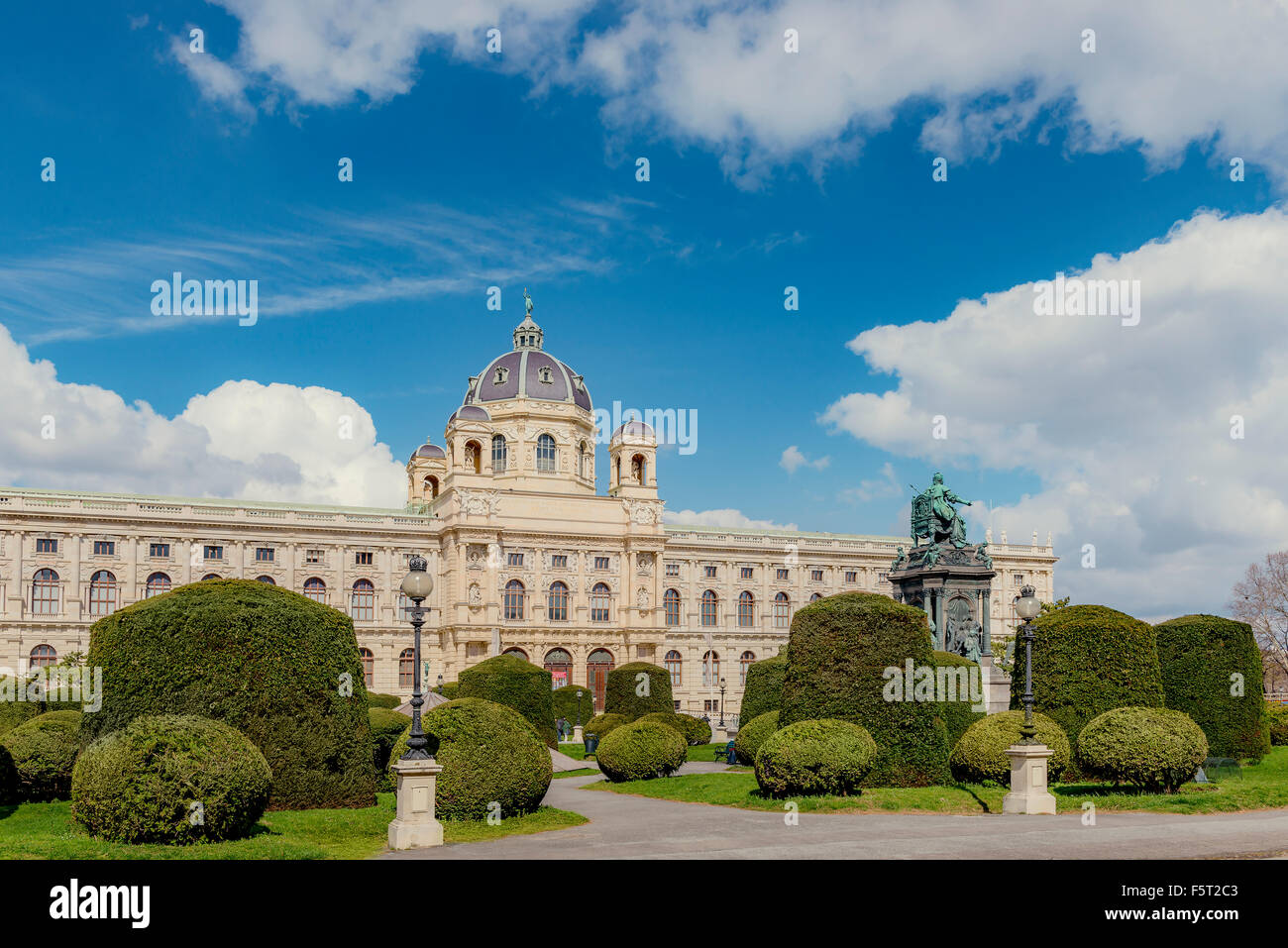 Austria, Vienna, View of Museum of Natural History - Stock Image