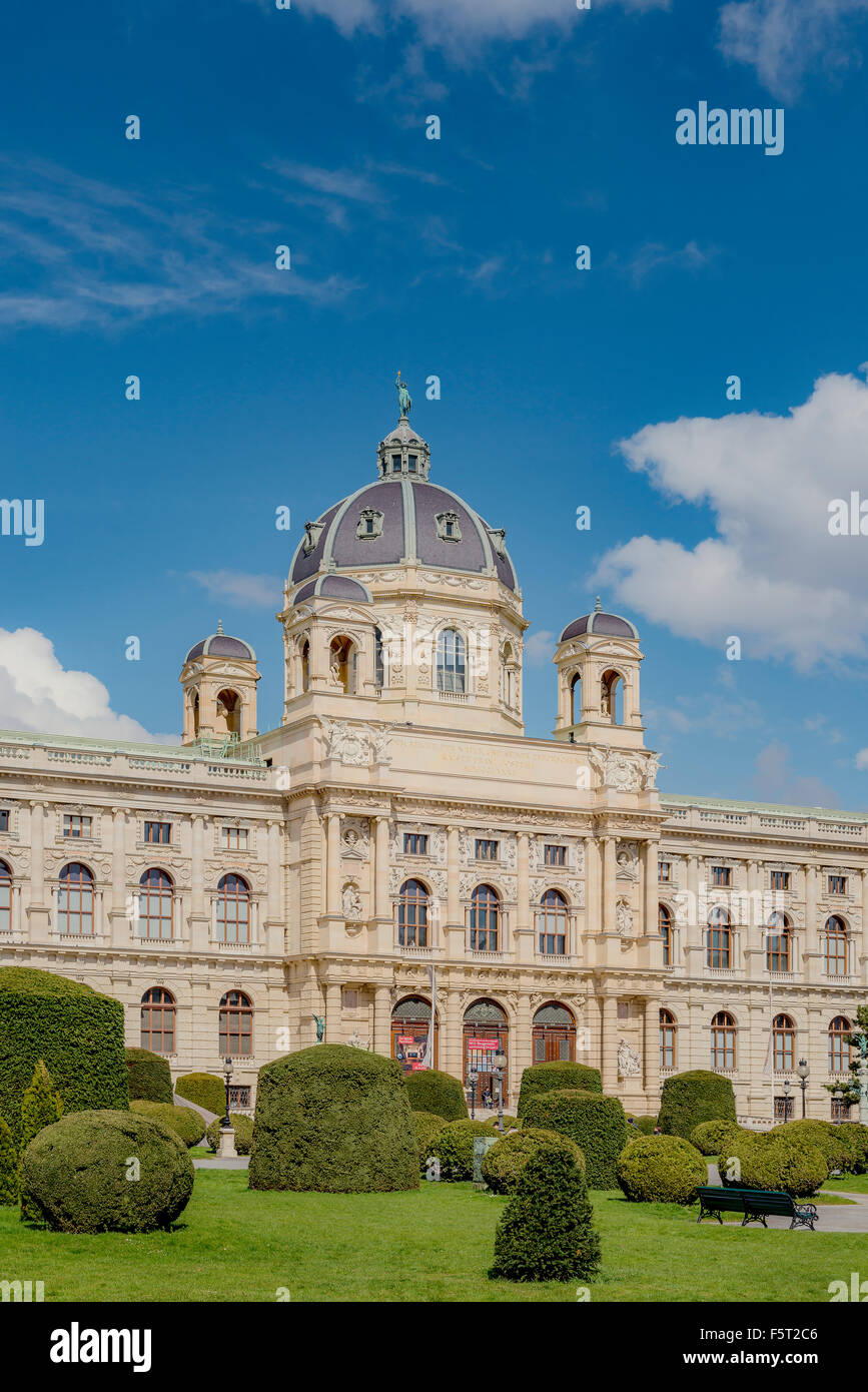 Vienna, Austria, View of Museum of Natural History - Stock Image